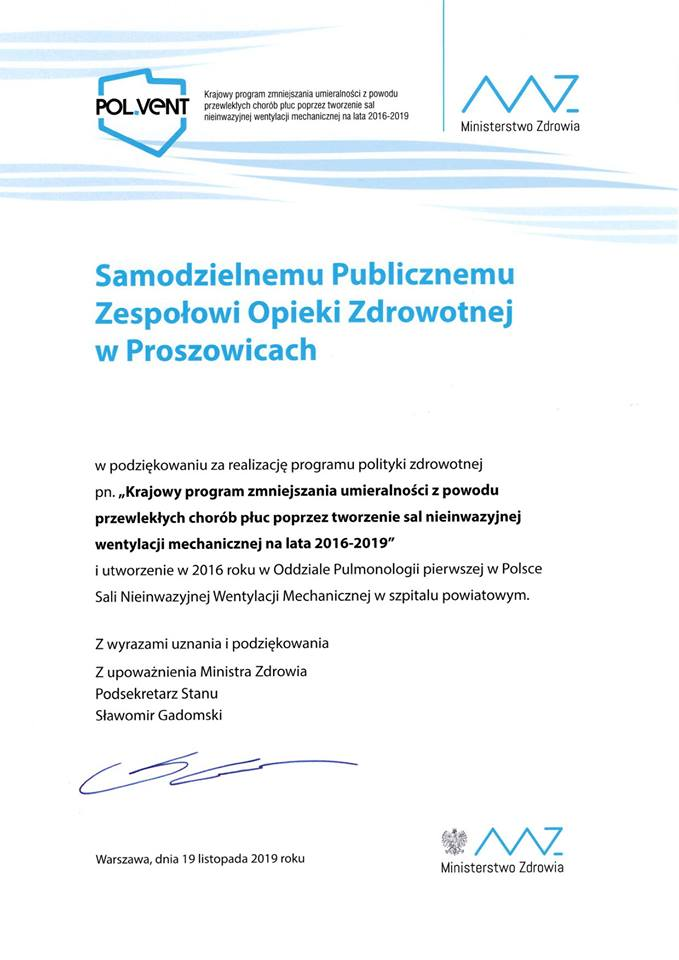 """Konferencja pt: """"POL VENT – krok milowy w  polskiej pneumonologii"""","""